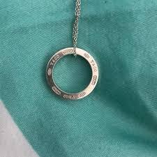 tiffany 1837 circle pendant necklace