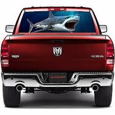 P54 Shark Rear Window Tint Graphic Decal Wrap Back Pickup Graphics Car Truck Decals Emblems License Frames Car Truck Parts Moonnepal Com