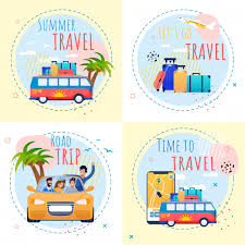 summer vacation motivational set inspiration quotes time to