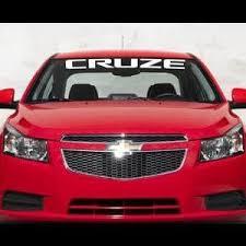 Chevy Cruze Chevrolet Windshield Banner Decal Sticker Custom Sticker Shop