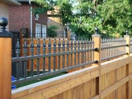 Metal Spike Topped Wood Privacy Fence Easy Fence Rustic Fence Backyard Fences