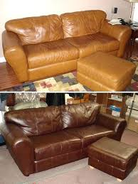 how to fix my leather couch black faux