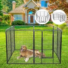 Jaxpety 47 Folding Exercise Pet Playpen Dog Fences Puppy Gate Home Indoor Outdoor
