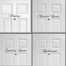 Amazon Com Laundry Room Pantry Bathroom Or Powder Door Decor Vinyl Wall Decal Set Of 3 You Choose Mix And Match Great House Warming Gift Wall Decor Handmade