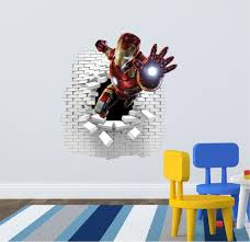 3d Iron Man Wall Decal Great For The Kids Room Wall Decals Wall Stickers Wall Decals And Stickers
