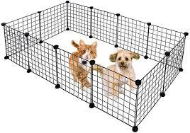 Amazon Com Metal Pet Fence Panels Portable Foldable Diy Shape Dogs Playpen Bunny Puppy Dwarf Rabbits Pigs Cat Exercise Pen Cage New Pet Supplies Black 12 Panels Us Stock Arts Crafts Sewing