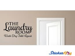 Wash Dry Fold Repeat Laundry Room Vinyl Wall Decal 2 Graphics Home Decor