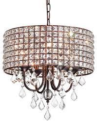 beaded round drum shade chandelier