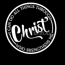 I Can Do Jesus Christ Vinyl Decal Sticker Cling Car Truck Etsy