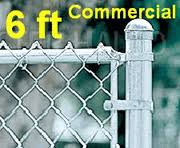 6 Ft Galvanized Commercial Chain Link Fence System Complete Package