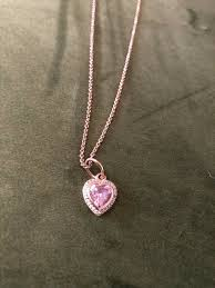 pandora rose gold necklace in