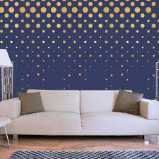 251 Gold Polka Dot Vinyl Wall Decals Petagadget