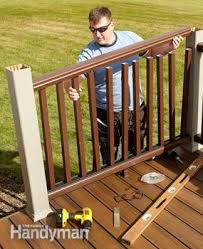 Rebuild An Old Deck With New Decking And Railings Diy Family Handyman
