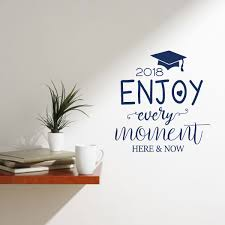 Amazon Com Graduation Cap Vinyl Decal Enjoy Every Moment Lettering With Hat And Tassel Sticker For High School College Or University Graduate Personalized Graduation Class Year Handmade