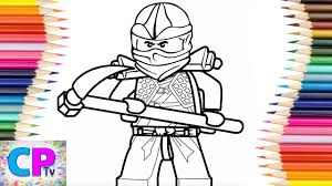 Lego Ninjago Cole Zx Coloring Pages,How to Color Lego Ninjago Coloring Pages  Tv,Ninjago with Weapon - YouTube