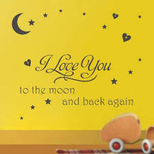 We Love You To The Moon And Back Vinyl Wall Decal Words Quote Nursery Lettering Home Garden Children S Bedroom Words Phrases Decals Stickers Vinyl Art