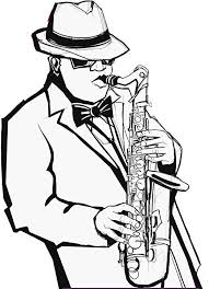 Amazon Com Ew Designs Black And White Saxophone Jazz Musician Vinyl Decal Bumper Sticker 4 Tall Kitchen Dining
