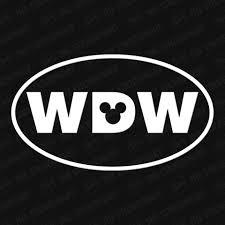 Wdw Walt Disney World Oval Vinyl Decal The Stickermart