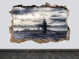 Submarine Decal U Boat Wall Decal Submarine Wall Art Submarine Etsy