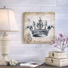 King And Queen Crown Wall Art Wayfair