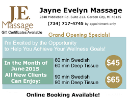 jayne evelyn massage 2240 middlebelt rd