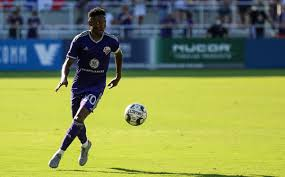 Louisville City FC in action during the Lynn Family Stadium opener ...