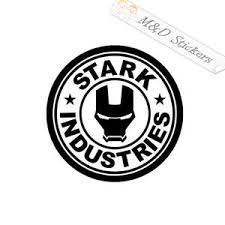 2x Stark Industries Vinyl Decal Sticker Different Colors Size For Ca M D Stickers