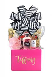 personalized just because gift basket