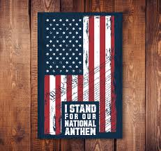 I Stand For The National Anthem Sticker Ownthedashapparel