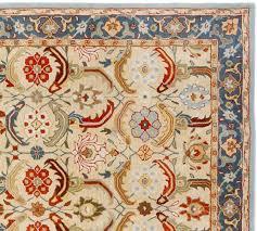 eva persian style tufted wool rug 5 x