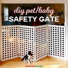 Diy Pet Gate Baby Gate Freestanding Extra Wide Tall Jennifer Maker