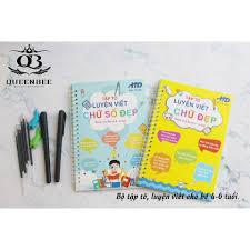 Vở tập tô, luyện chữ viết, chữ số cho trẻ em