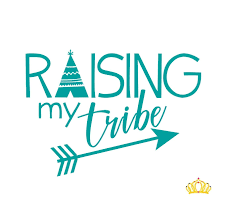 Amazon Com Raising My Tribe Vinyl Sticker Mom Quote Decal For Yeti Cups Laptops Tumblers Or Car Window Accessories Turquoise 3 5 In X 5 In Handmade