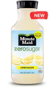 zero sugar lemonade minute maid