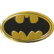 Batman Logo On Gold Metal Large Sized New Sticker Decal Dc Comic Super Hero Car