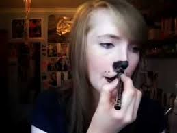 really cute dog puppy makeup tutorial