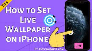 set live wallpaper on iphone 11 pro max