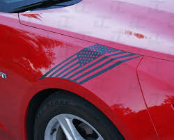 Camaro American Flag Front Fender Hash Stripes Decal Kit 2016 2021 Decal Concepts