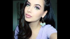 spring makeup tutorial purple mint