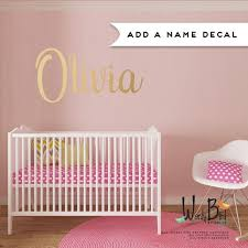 Baby Name Wall Decal For Nursery Gold Name Decal Gold Baby Etsy