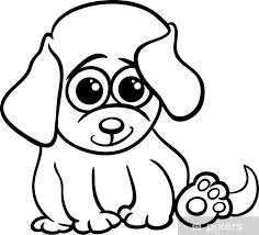 Fotobehang Baby Puppy Cartoon Kleurplaat Pixers We Leven Om