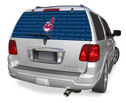 Cleveland Indians Decals Cleveland Indians Window Graphics Cleveland Indians Mlb Logo Rearz Back Windshield Covering By Glass Tatz