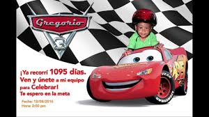 Invitacion De Cars 3 Anitos Youtube