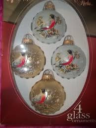 ornaments krebs birds glitter