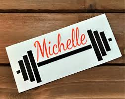 Barbell Decal Etsy
