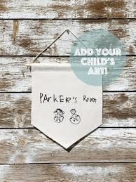 Custom Banner Kid S Drawing Wall Hanging Kids Room Etsy Custom Banners Personalized Flag Kids Room Wall Decor