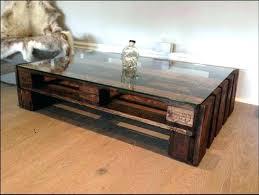 glass top storage coffee table
