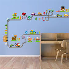 Nursery Kids Room Wall Decal Racing Cars Kneebees