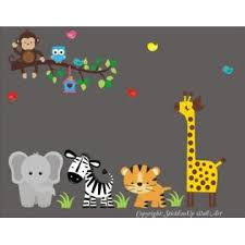 Nursery Wall Decals Elephant Decal Zebra Decal Tiger Decal Giraffe Decal Monkey Decal Bird Decal Birdhouse Decal Nursery Wall