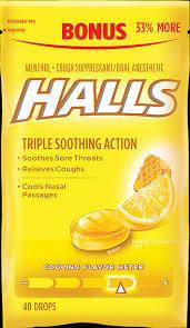 halls honey lemon flavor cough drops